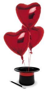 воздушые шары сердцем